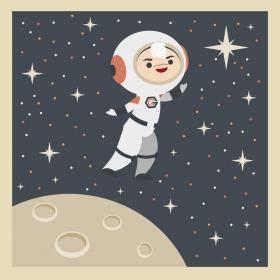 Vector Art di un'astronauta