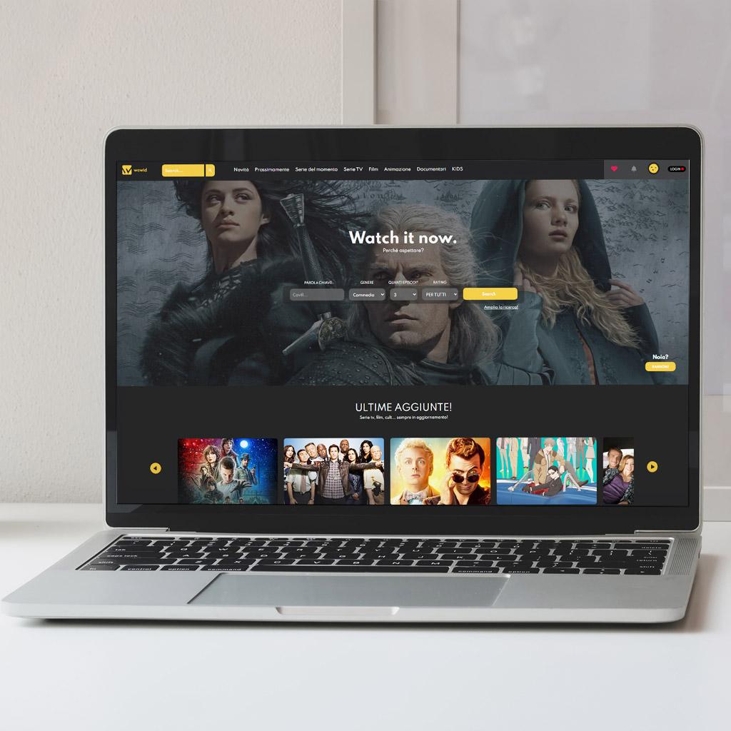Wowid - Sito di Streaming (concept)